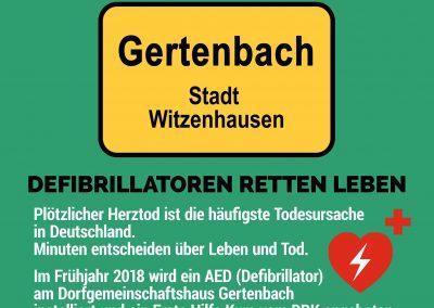 Defibrillator für Gertenbach